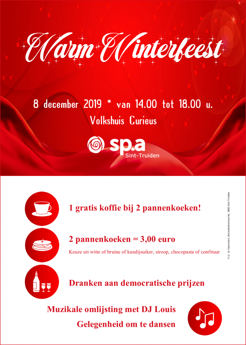Affiche warm winterfeest